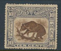North Borneo  SG 104 no obviopus cancel  partial gum perf 14 please see scan ...