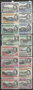 Ascension 1938-1953 SC 40-49 MNH/MLH SCV $203.00 Set