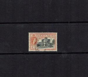 Sierra Leone: 1956 Queen Elizabeth II definitive, £1, good used.