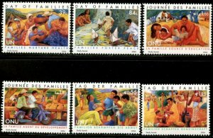 UNITED NATIONS Sc# NY 913-4 GE 457-8 VI 380-1  2006 Intl. Day of Families MNH
