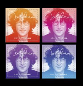 5312-15 John Lennon US Postage Stamp Set Of 4 With Borders Mint/nh FREE SHIPPING