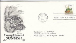 1993, Pumpkinseed Sunfish, Artcraft/PCS, FDC (D15434)