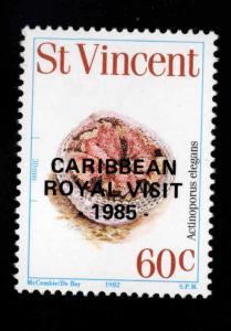 St Vincent Scott 886 MNH** Royal Visit 1985 overprint