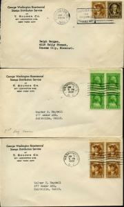 #704-15-2 FDC CACHET FIRST Y. SOUREN CO. SET OF 12 BN3387
