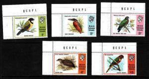 Solomon Is-Sc#280-4-unused NH set-Birds-1975-