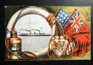 1906 Toronto Canada Picture Postcard Cover to Stanfort England SS Chippewa steam