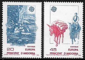 Andorra Spanish #184-5 MNH Set - Europa - Transportation