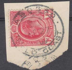 GOLD COAST 1909 QEVII 1d on piece ABOSSO cds................................N492