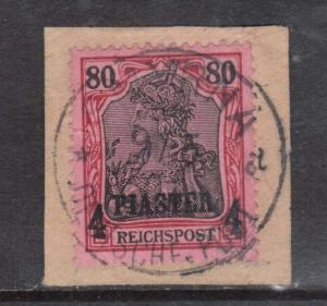 German Offices In Turkey #20 XF Used CDS Cancel On Piece