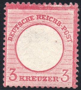 German Empire 1872 Large Shield 3 Kreuzer Mi 25 MNG