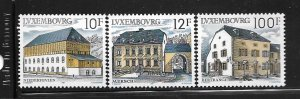 LUXEMBOURG, 775-777, MINT HINGED,RURAL ARCHITECTURE