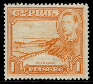 CYPRUS GVI SG154, 1pi orange, M MINT.