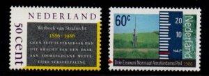 Netherlands Sc 676-77 1986 Penal Code & Datum Ordinance  stamp set mint NH