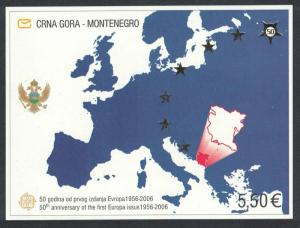 Montenegro 50th Anniversary of Europa CEPT stamps MS SG#MSM185