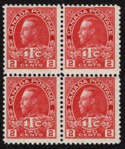 CAN SC #MR3a MNH B4 1916 2c + 1c War Tax Stamp Typ II CV $2500.00