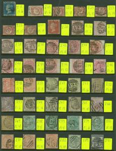 EDW1949SELL : GREAT BRITAIN Incredible collection of all GB Used in Malta Scarce
