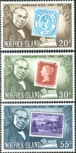Norfolk Island 1979 SG225-227 Sir Rowland Hill stamps set MNH