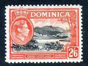Dominica 1938 KGVI. 2/6d black & vermilion. Mint. LH. SG107.