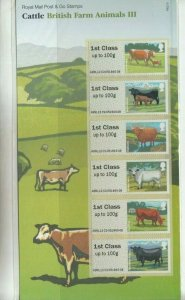 2012 Post and Go: CATTLE BRITISH FARM ANIMALS Presentation Pack No. P&G 9