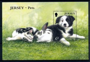 [40846] Jersey 2003 Animals Pets Dog Rabbit Cat MNH Sheet