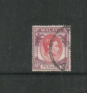 Malaya Penang 1949/52 GV1 40c Used SG 18