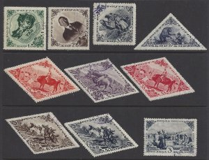 Tannu Tuva #71-3, 81-86a, 91 Used various designs, issued 1936
