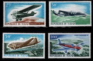 Chad TCHAD Scott C33-C36 MH* airmail stamp set