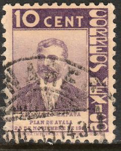 MEXICO 723, 10c ANNIV. PLAN DE AYALA - ZAPATA. USED. VF. (572)