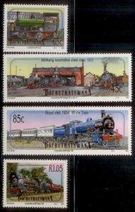 South Africa - Bophuthatswana 1993  SC# 291-4 Trains MNH L189