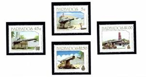 Barbados 847-50 MNH 1993 Cannons