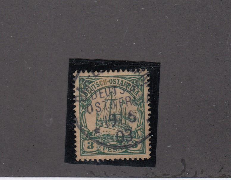 GERMAN EAST AFRICA LOT # 12- VF SON TOWN CANCEL COLLECTED FOR PMKS