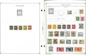 Cook Islands 1892-2010 MNH, LH & U in Mounts & Hinged on Scott International Pgs