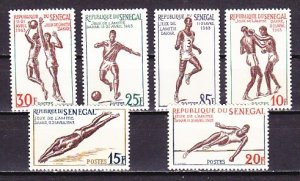 Senegal, Scott cat. 212-217. Sports issue. ^