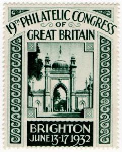 (I.B) Cinderella : 19th Philatelic Congress (Brighton 1932)