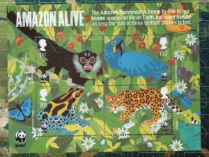 Great Britain Sc 2893 2011 WWF Amazon  stamp sheet mint NH