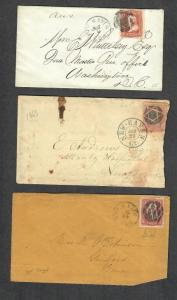 New Haven Conn Sc#65 Covers Nice Fancy Cancels