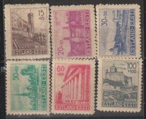 Estonia  SC NB1-6  Mint Never Hinged