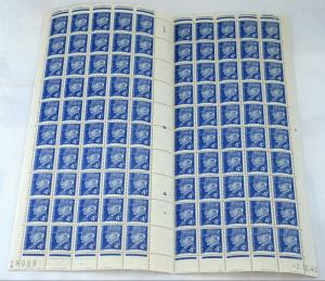 FRANCE SC# 446 Marshal Petain Full Complete Sheet of 100 Stamps Postage MINT NH