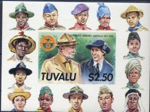 1987 Tuvalu World Boy Scout Jamboree Australia SS Imperf BadenPowell