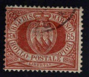 San Marino Scott 20 Used 1892 stamp