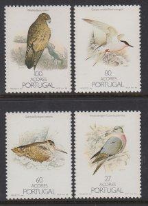 Azores 371-374 Birds MNH VF