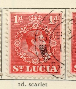 St Lucia 1938-48 GVI Early Issue Fine Used 1d. NW-154972