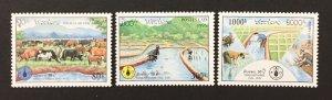 Laos 1995 #1247-9, FAO, MNH.
