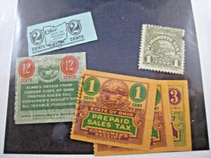 U.S. OHIO STATE TAX STAMPS - LOT OF 6