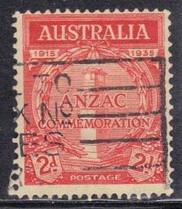 AUSTRALIA SC# 150 USED 2p 1935 ANZAC COMMEMORATION  SEE SCAN