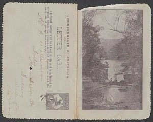 AUSTRALIA 1913 1d lettercard - National Park NSW - used.....................N610