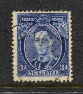 3STAMP STATION PERTH  Australia #170 KGVI Definitive Wmk.228 Used -CV$5.00