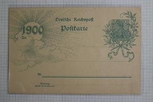 Germany Postal card stationery HG40 Higgins Gage Mint 1900 special print  DC