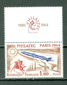 FRANCE #1100(YT 1422) WITH TAB...MINT LIGHT H...$25.00