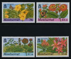 Montserrat 1072-5 MNH Flowers, Butterflies